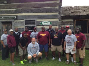 Don and I with CSU coaching staff and head trainer