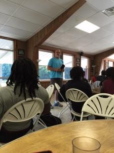 Pastor Brian speaking